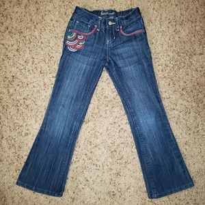 Old Navy Girl's Boot Cut Jeans with Embroidery